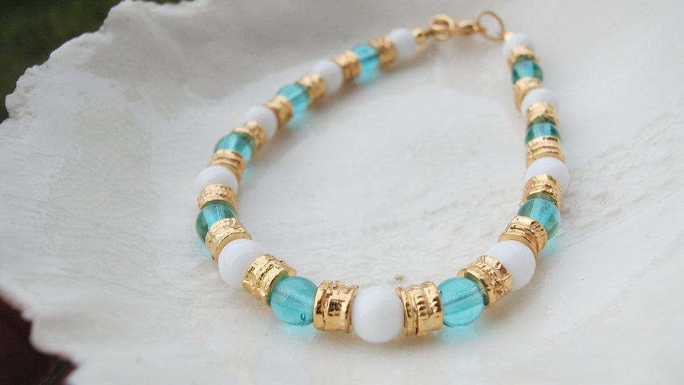 Turquoise Murano Glass Bracelet