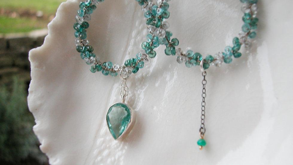 Apatite & Aquamarine Earrings