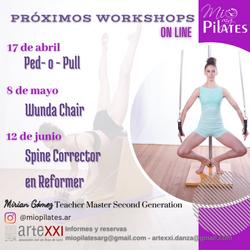 Workshops Abril Mayo Junio 2021