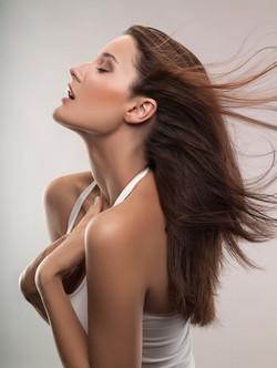 Straight Hair Model