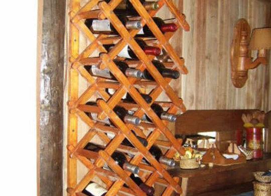 Porta Botellas en Fierro y Madera
