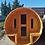 Thumbnail: Sauna barril con antesala.