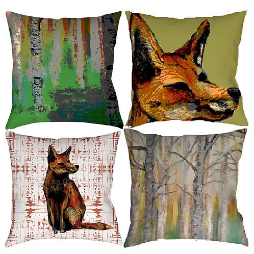 Woodland Retreat Cushion Collection Set of 4