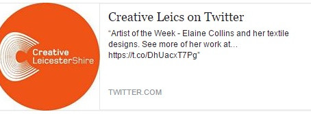 'Artist of the Week' with Creative Leicestershire