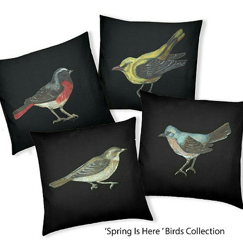 'Spring is Here' Birds Collection Set of 4