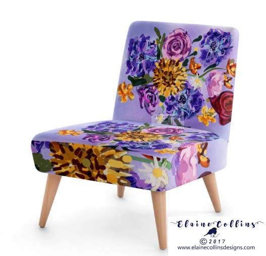 'Painted Floral' Design (c) 2017 www.elainecollinsdesigns.com