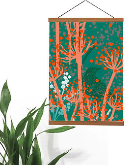 magnetic holder with autumn meadow close