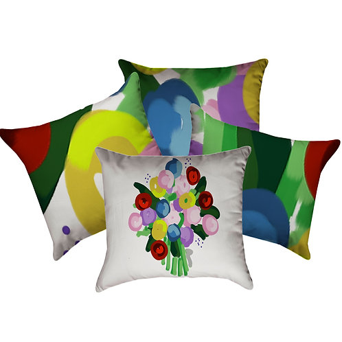 Abstract Bouquet Collection Set of 4
