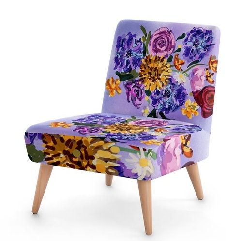 Painterly Floral Occasional Chair