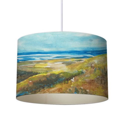 Coastal Path Oil painting Printed Designer Lampshade by Elaine Collins Designs