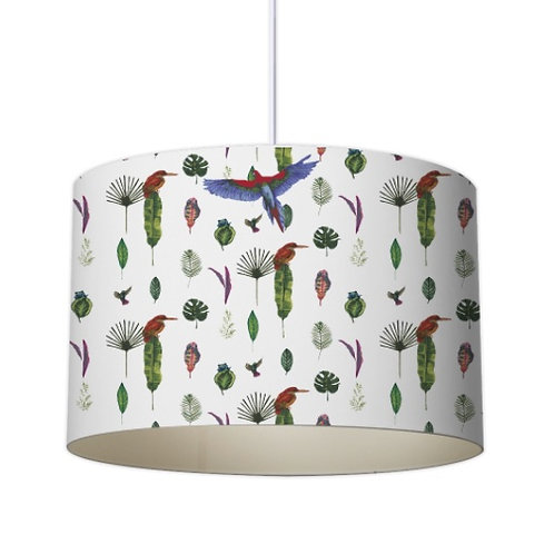 Paradise Collection - Tropical linear leaves Designer Lampshade by Elaine Collins