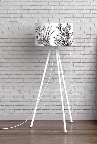 black and white nature lampshade