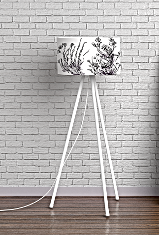 black and white nature lampshade