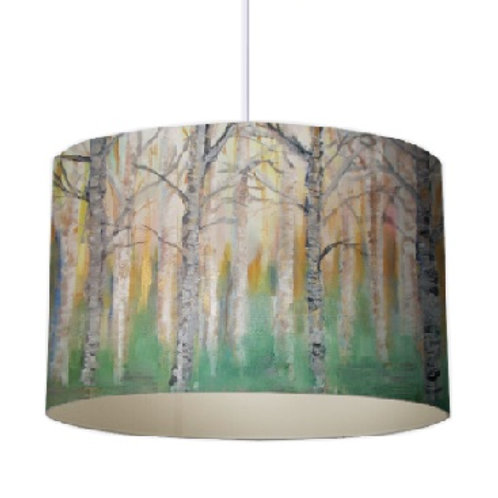Forest Trees Designer Lampshade by Elaine Collins Designs