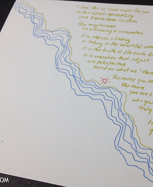 Waves vs Mountains (print)
