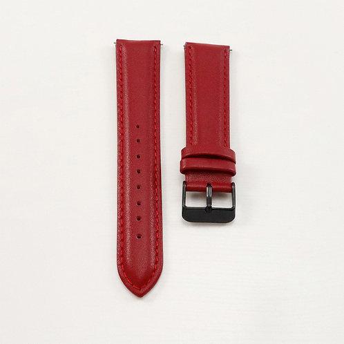 Widdenburg leather strap 20mm - red