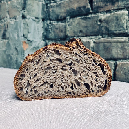 Fruitwater with whole wheat flour batard