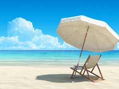 Relaxing beach, forgotten islands (stock
