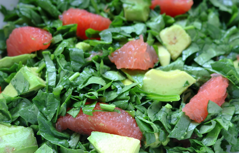 Spinach, Grapefruit, and Avocado Salad