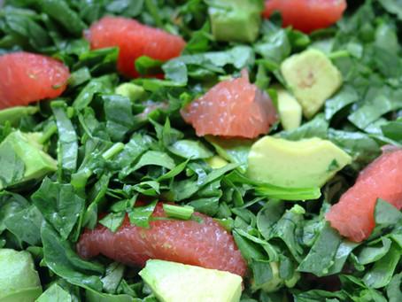 Spinach, Grapefruit, and Avocado Salad