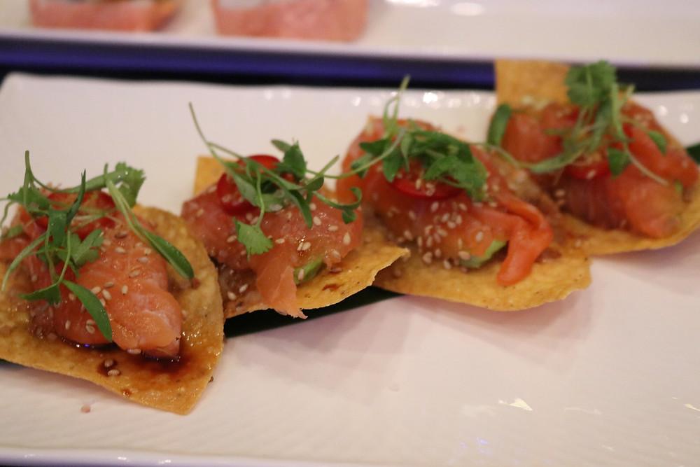 Salmon Tostadas at Cloak and Petal