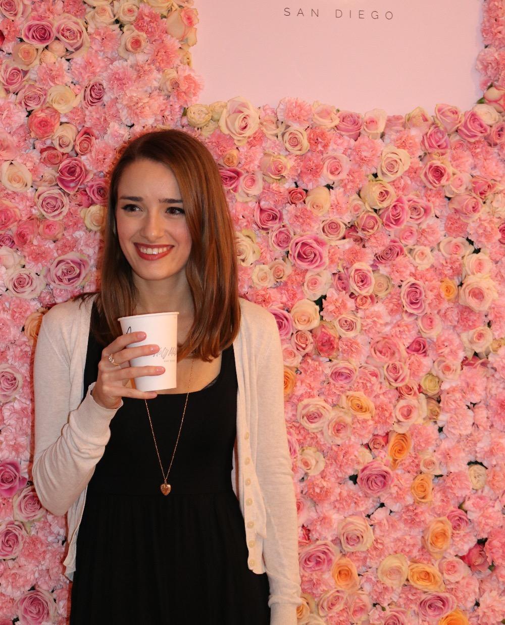 Holy Matcha's Rose Wall