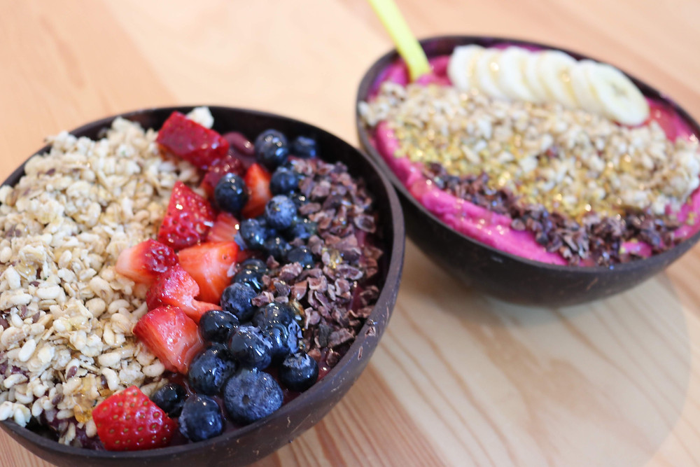 Left: Chill Berry Bowl; Right: Seasonal Special