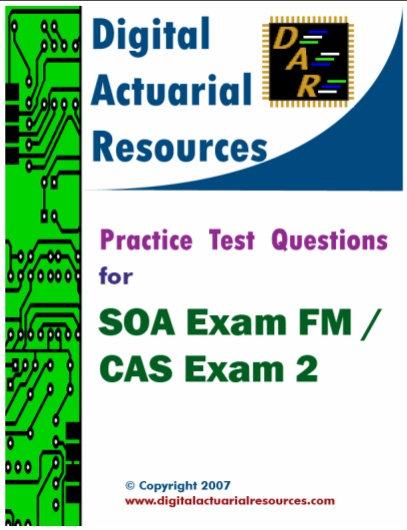 Digital Actuarial Resources Exam FM/2 Practice Test Questions