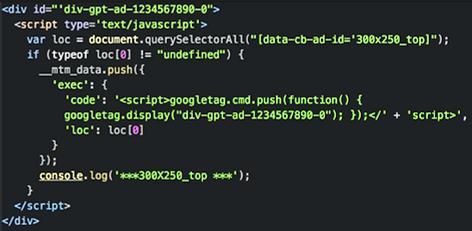 GPT Tag Sample, örnek dfp kodu
