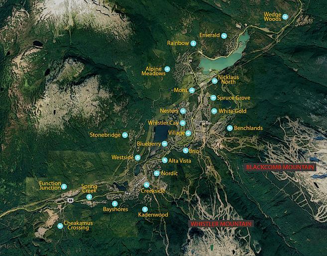Whistler Neighborhood Map