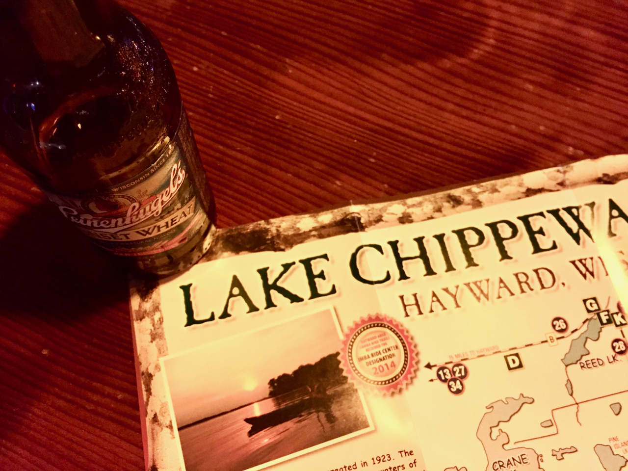 Lake Chippewa Flowage Map & a Leinie