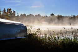 Morning Mist on Daggett's South Bay