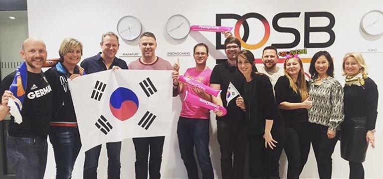 Ein wunderbarer Tag mit DOSB Team! #pyeo