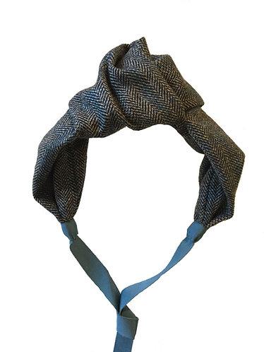 Oversized Knot in Herringbone Tweed