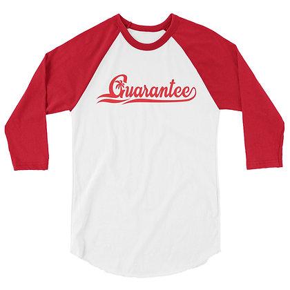 Gauarantee Baseball style RED - Men's 3/4 sleeve raglan shirt