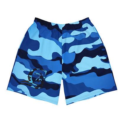 Camouflage Blue - Men's Athletic Shorts