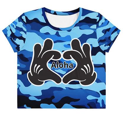 Hands making heart Aloha C/B - Women's Silky shirt copy