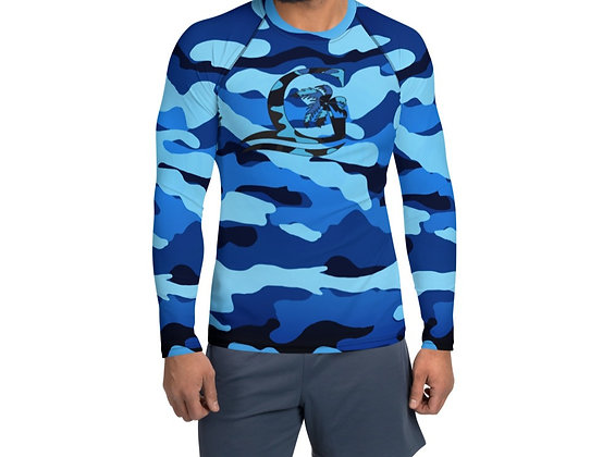 Camouflage Blue Men's Rash Guard