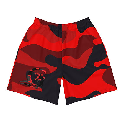 Camouflage Red Men's Athletic Shorts