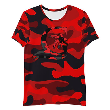 Camouflage Red - Men's Athletic T-shirt