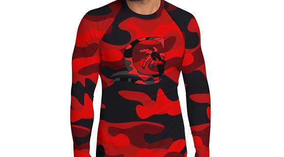 Camouflage Red - Men's Rash Guard