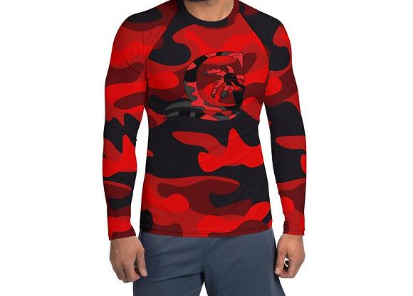 Men's Camouflage Red Rash Guard
