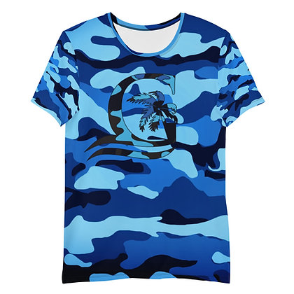 Camouflage Blue - Men's Athletic T-shirt