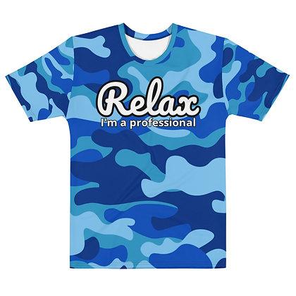 "Relax I'm a professional ""CAMO BLUE"" - Men's silky smooth dress shirt"