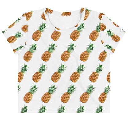 Pineapple Pattern - Women's Crop Tee