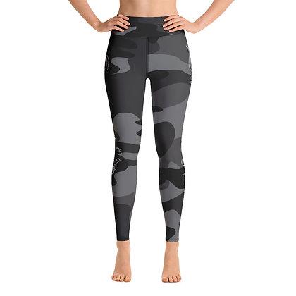 Gray Camo - Women's Yoga Leggings