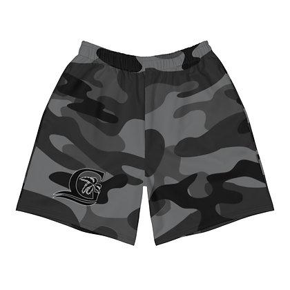 Grey Camo Black G - Men's Athletic Shorts