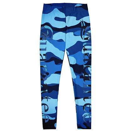 Blue Camo - Women's Leggings