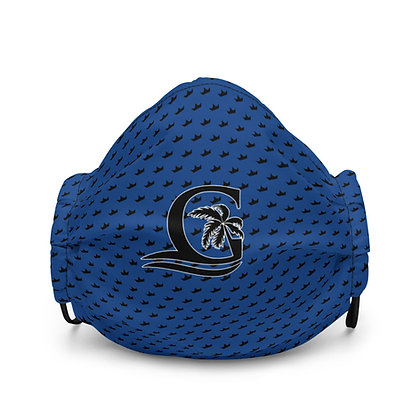 BLUE - Black G Black Crown - Premium face mask