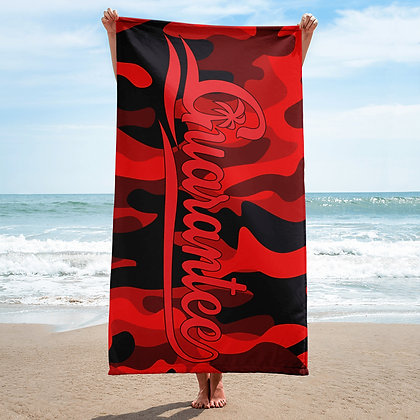 Red Camouflaged - Towel